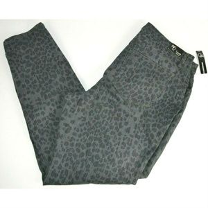 New Directions Plus Size Skinny Jeans, Leopard